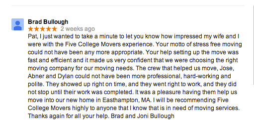 Esthampton-MA-Moving-Review-Five-College-Movers